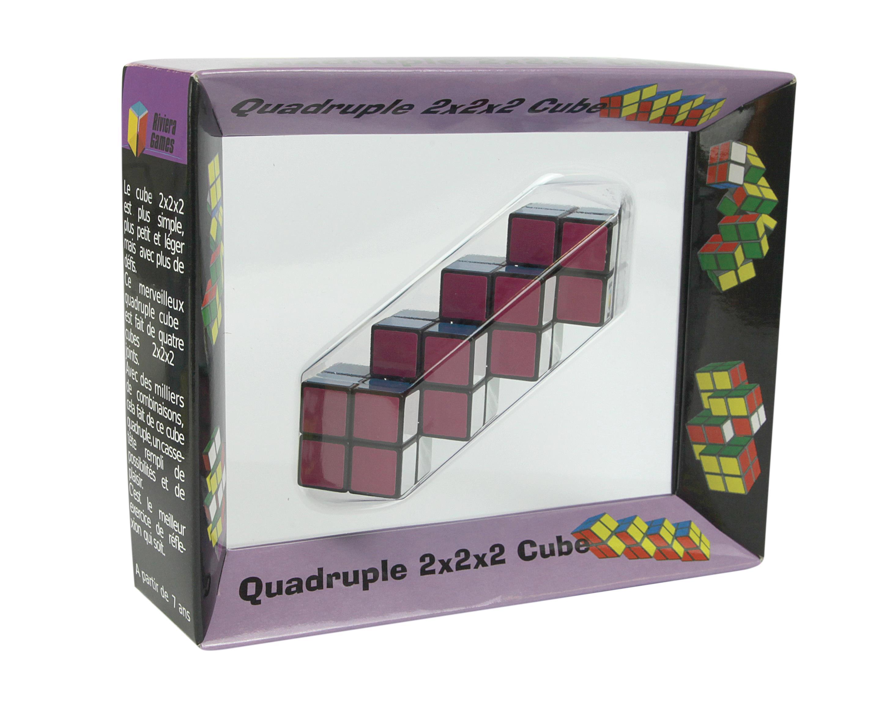Casse-têtes - Multi-cube quadruple - 15 x 4 x 12 cm --Riviera Games