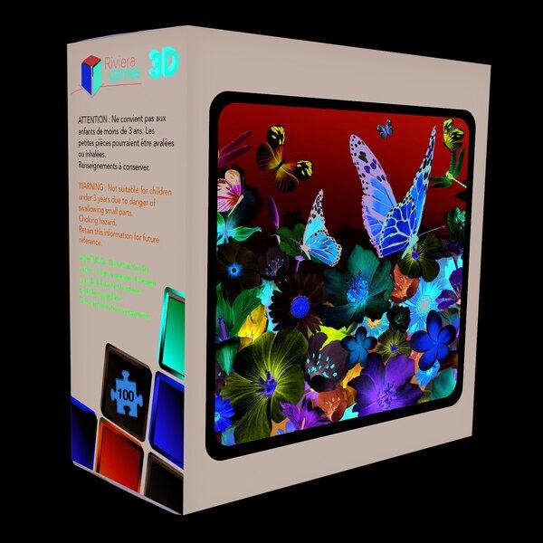Puzzle 3D - 100 pieces - les fleurs Puzzle 3d