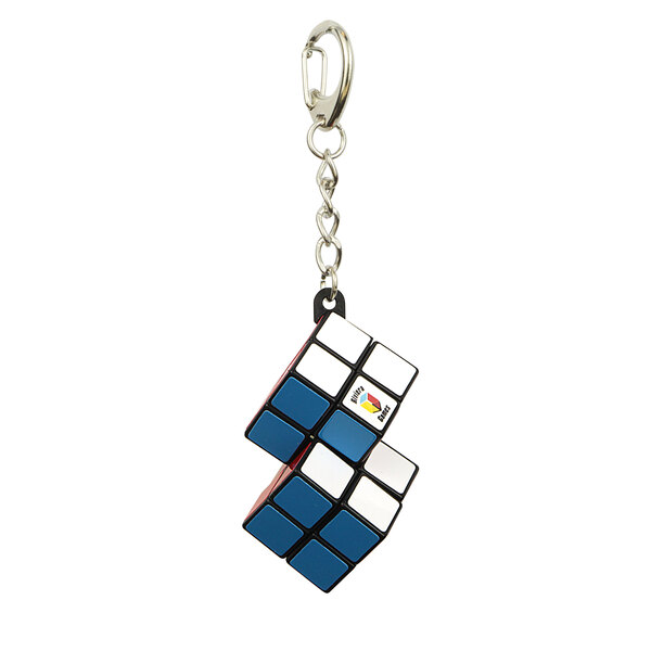 Porte-clés cube double - attache mousqueton