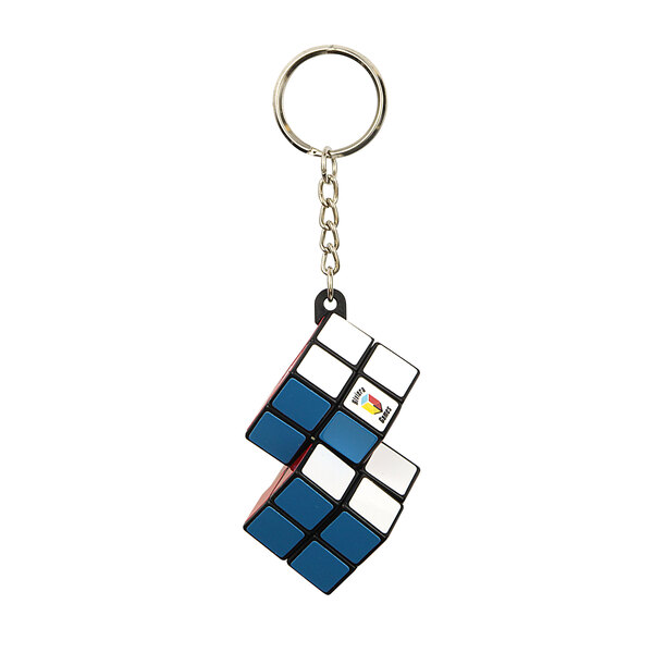 Porte-clés cube double - attache simple