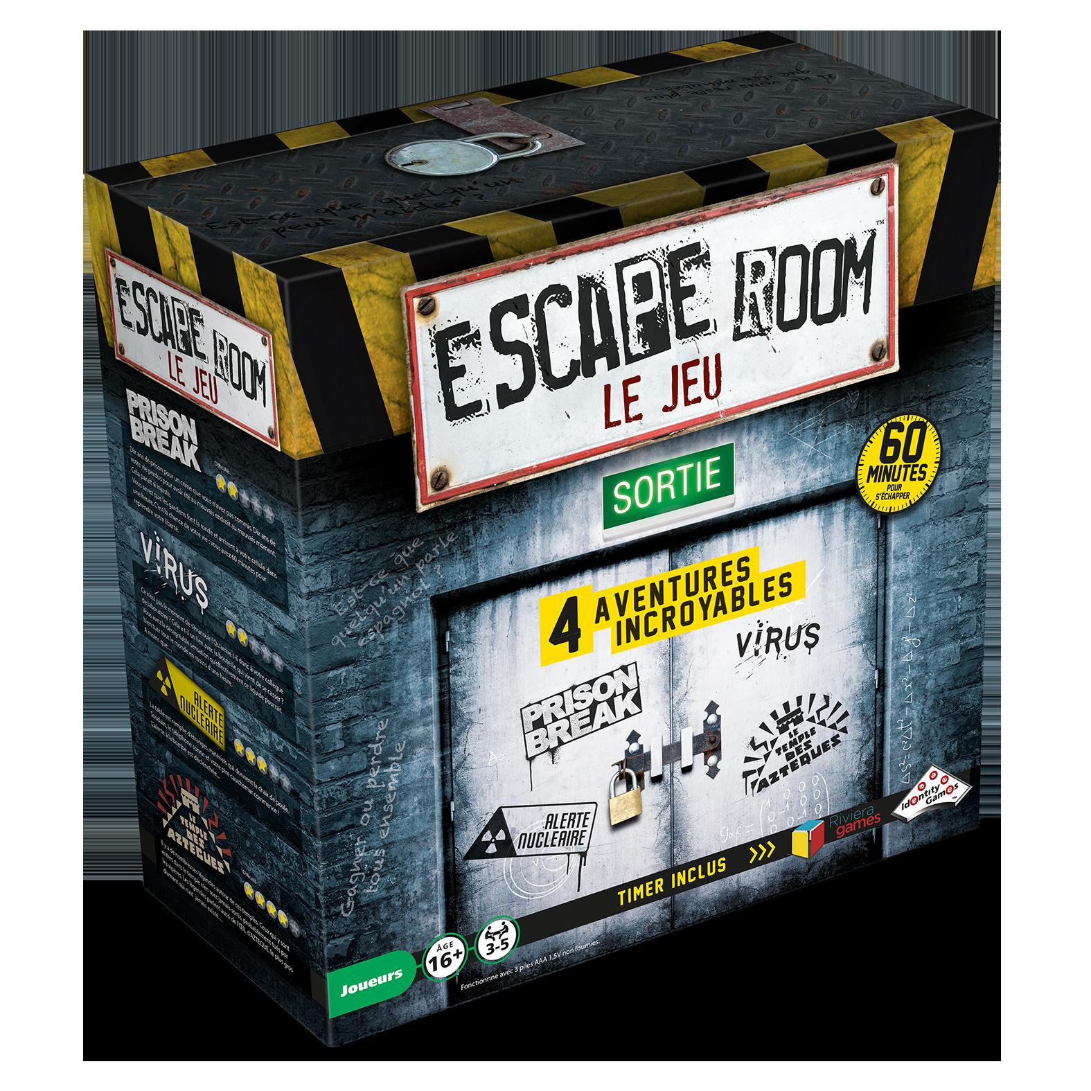 Casse-têtes - Escape games - coffret de 4 jeux --Riviera Games