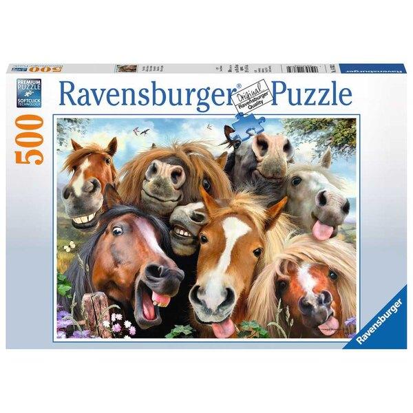 Selfie de chevaux Puzzle 500 pièces