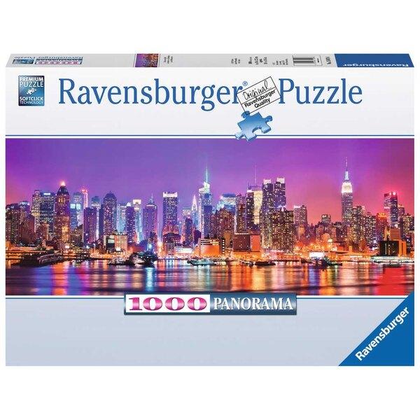 Les lumières de Manhattan (Panorama) Puzzle 1000 pièces