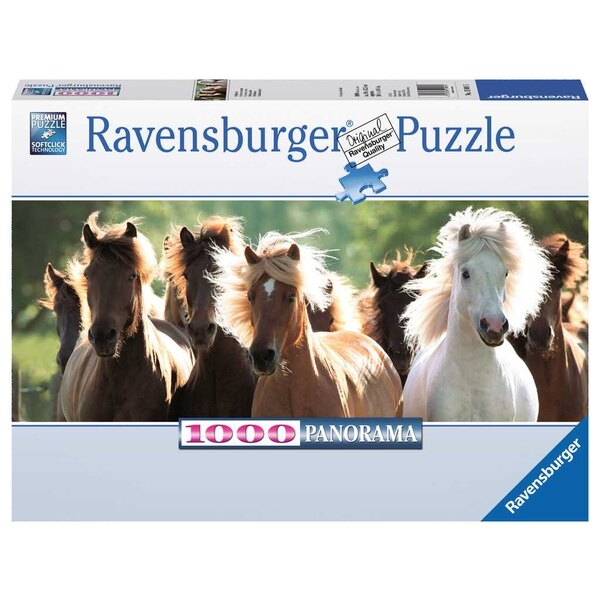 Chevaux sauvages (Panorama) Puzzle 1000 pièces