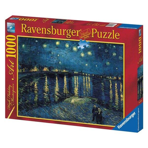 La nuit étoilée sur le Rhône / Vincent Van Gogh Puzzle 1000 pièces