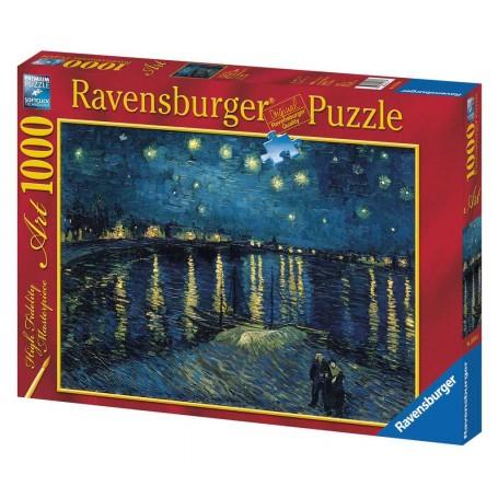 Puzzle La nuit étoilée sur le Rhône / Vincent Van Gogh