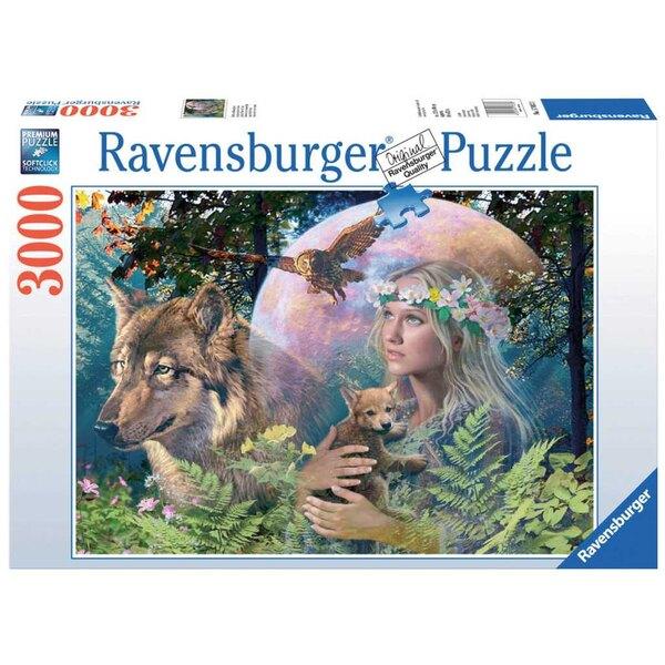 Loups au clair de lune Puzzle 3000 pièces