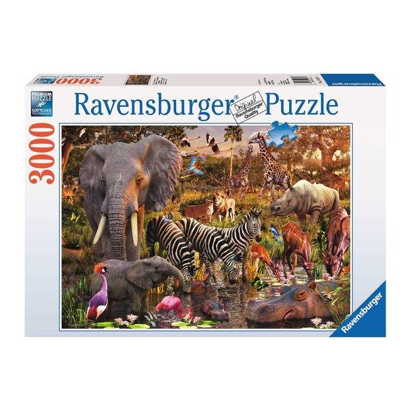 Animaux du continent africain Puzzle 3000 pièces