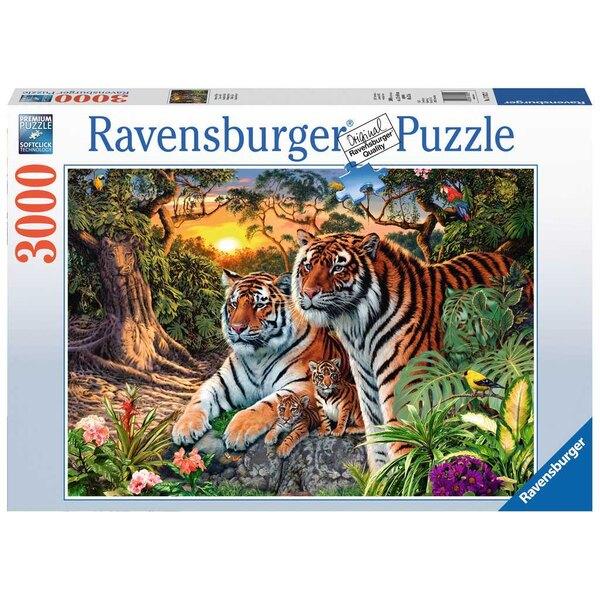 Tigres cachés Puzzle 3000 pièces