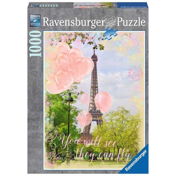Les ballons de la Tour Eiffel Puzzle 1000 pièces