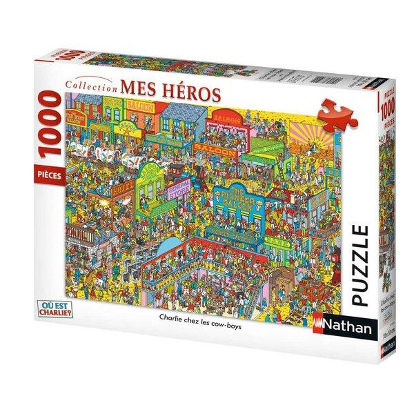 Charlie chez les cow-boys / Où est Charlie ? Puzzle 1000 pièces