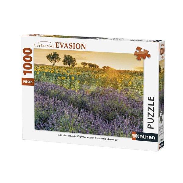 Les champs de Provence Puzzle 1000 pièces