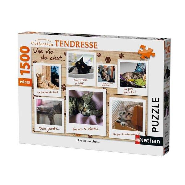 Une vie de chat… Puzzle 1500 pièces