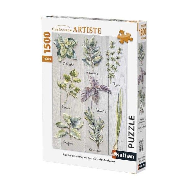 Plantes aromatiques Puzzle 1500 pièces