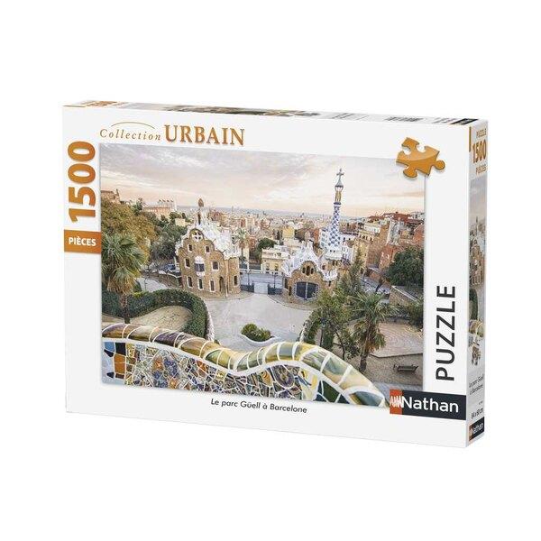 Le parc Güell à Barcelone Puzzle 1500 pièces