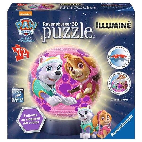 Pat'Patrouille pour filles Puzzle 3d 72 pièces