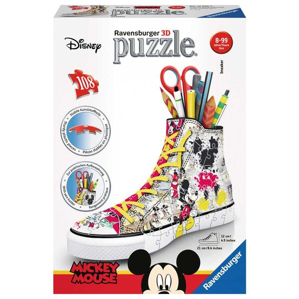 Sneaker Mickey Mouse Puzzle 3d