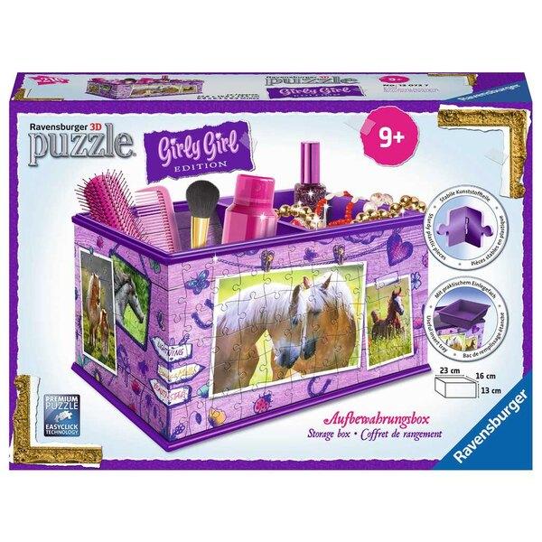Boîte de rangement - Girly Girl - Chevaux Puzzle 3d