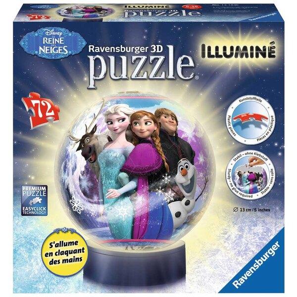 La Reine des Neiges Puzzle 3d 72 pièces