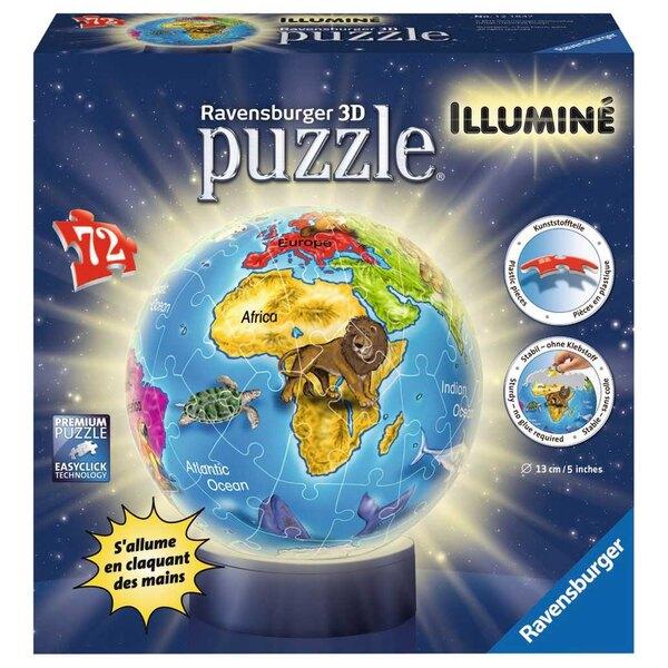 Globe Puzzle 3d 72 pièces