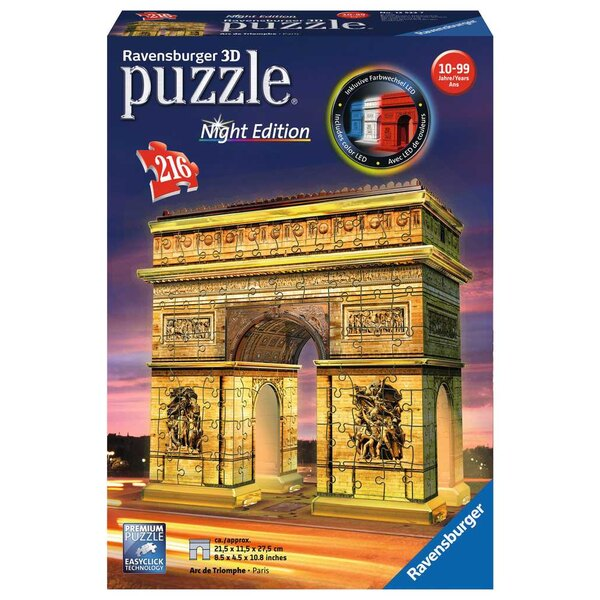 Arc de Triomphe - Night Edition Puzzle 3d