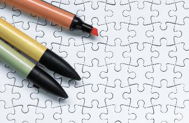 Puzzles um Auszumalen